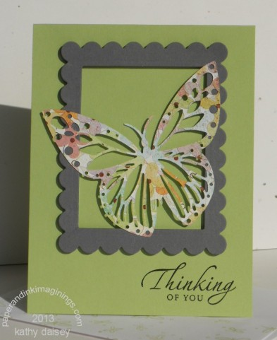 butterfly on scallop frame