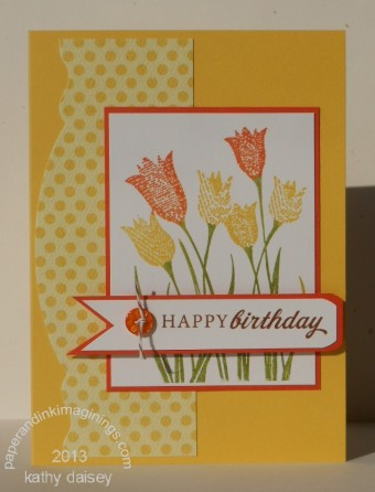 Yellow and Orange Tulip Birthday