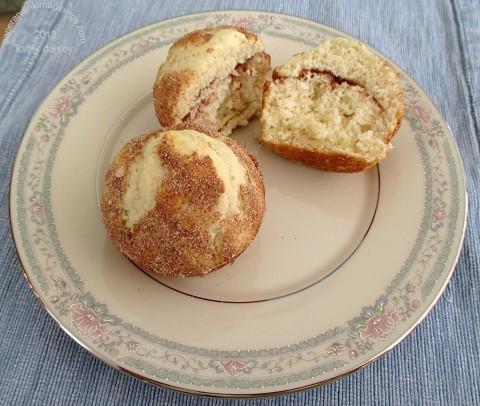 cinnamon muffin close up
