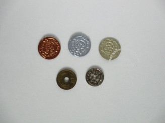 coins real and faux