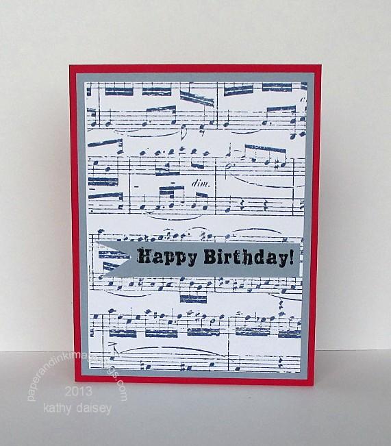 Sheet music birthday card paper and ink imaginings sheet music birthday bookmarktalkfo Images