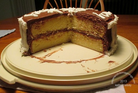 small cut cake J 2013