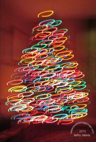 bokeh blurry xmas tree 2013