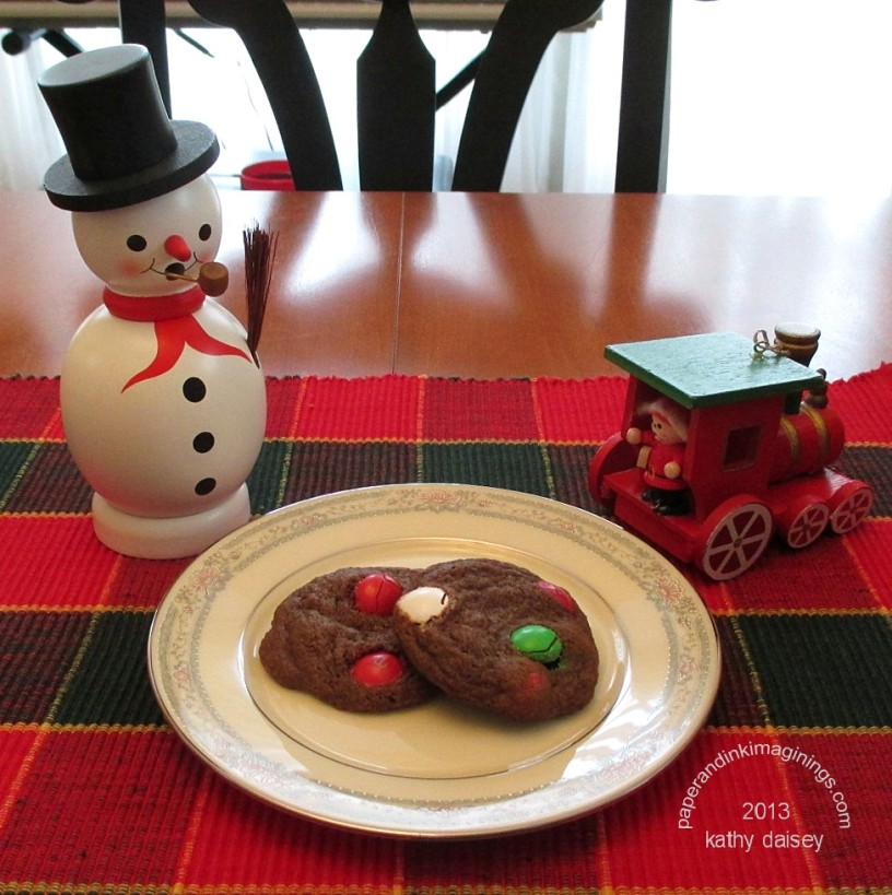mint m&m cookies 2013