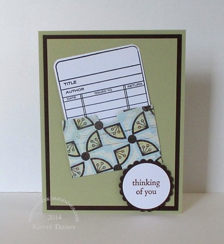 library card thinking card