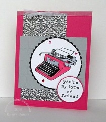 Pink Typewriter Friend