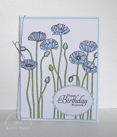blue poppy birthday