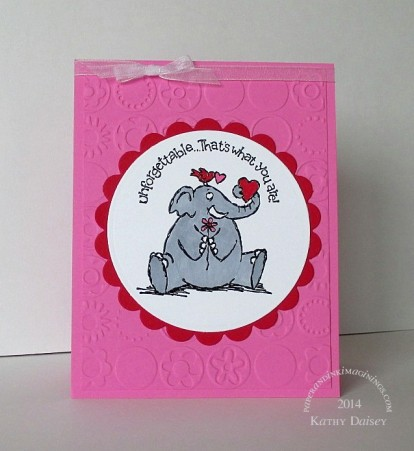 Pink and elephant Valentine
