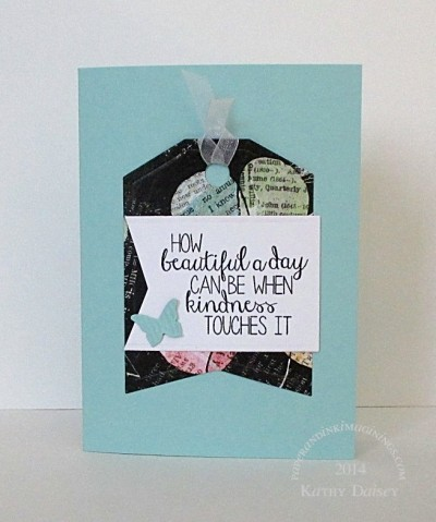 pool beautiful day tag card