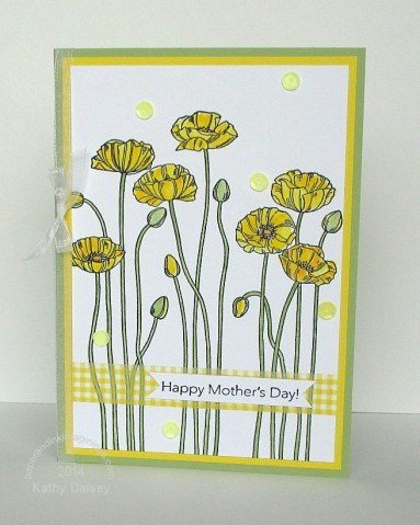 yellow poppies mothers day
