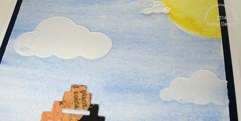 embossing paste clouds