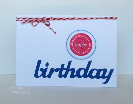 red white blue birthday note