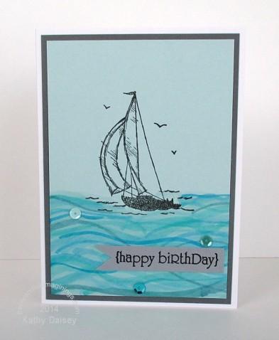 sailing birthday copic ocean