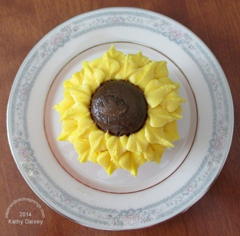 sunflower cupcake top