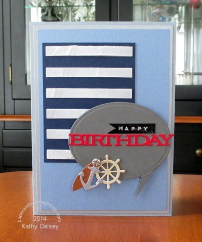 blue birthday with nautical charms
