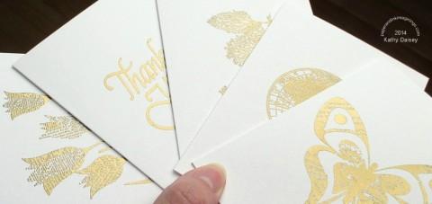 gold note set shine