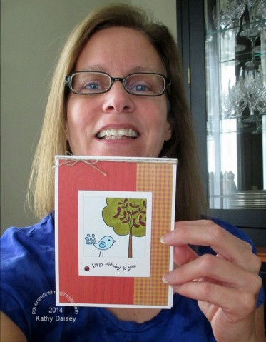 te selfie birthday card