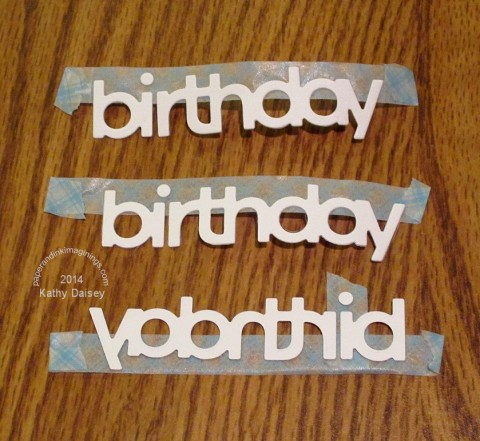 die cut birthday