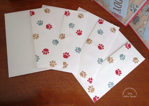 dog paw envelopes