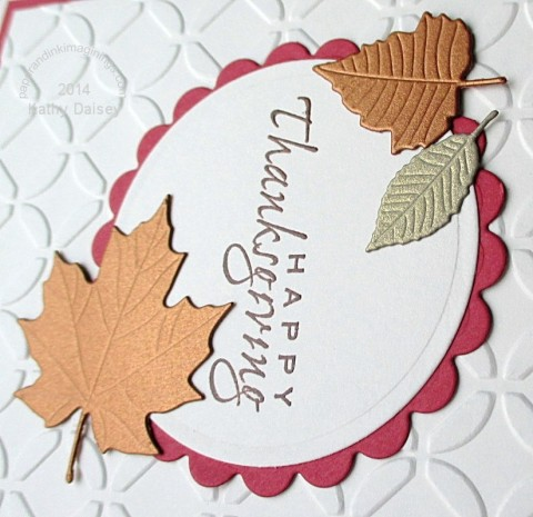gold copper thanksgiving leaves close up