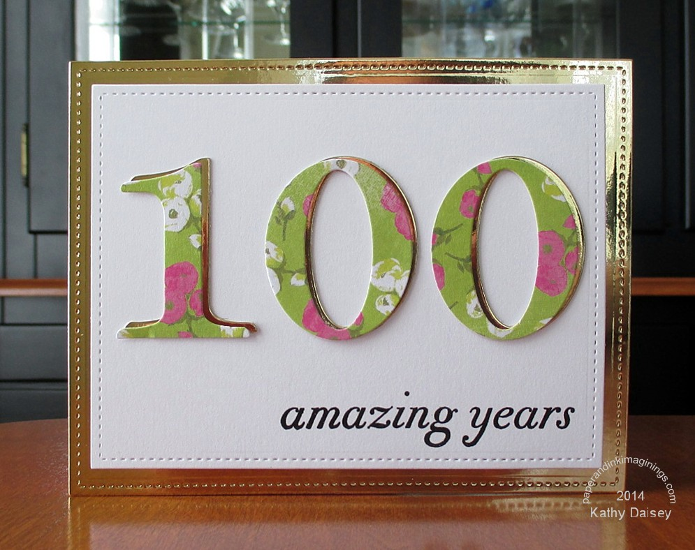 Golden 100th birthday card paper and ink imaginings golden 100 bday bookmarktalkfo Images