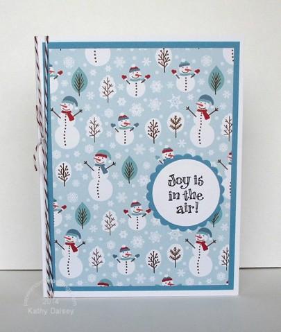 joy air snowman paper