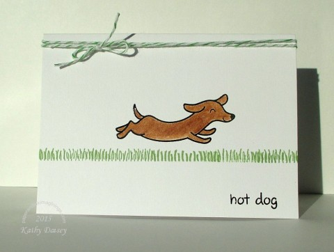 wiener dog hot dog note