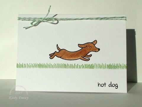 wiener dog hot dog note