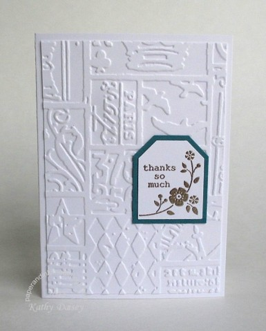 double embossed thank you note