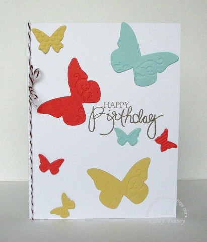 embossed diecut butterfly birthday