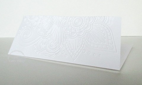 embossed envelope to match tone on tone wedding