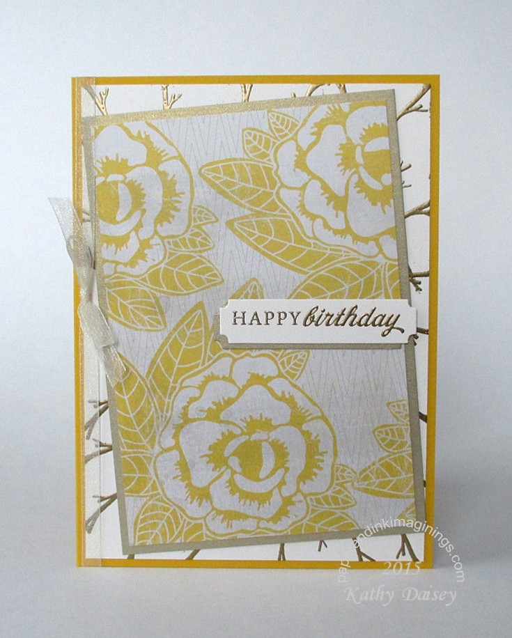 Vintage Yellow Roses Birthday Card Paper And Ink Imaginings