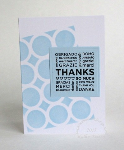 stenciled block thank you note