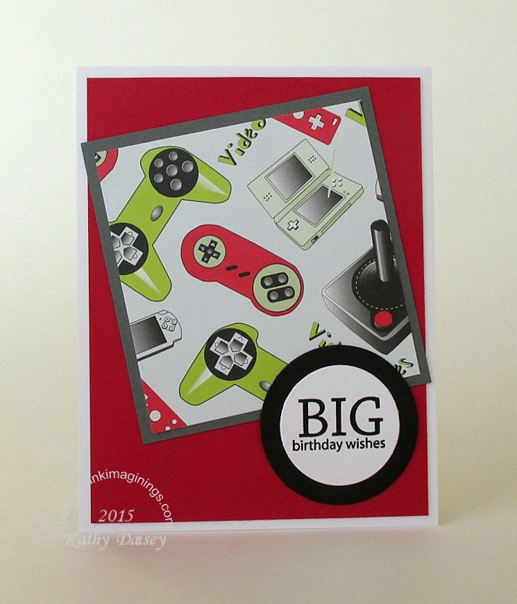Gamer Birthday Card Paper And Ink Imaginings