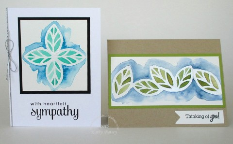 watercolored bold blooms leaves