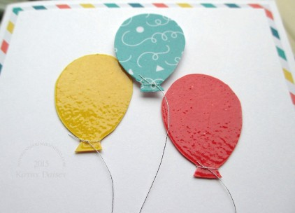 close up of embossed balloons
