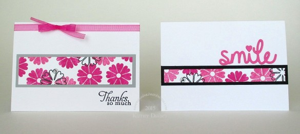 pink floral scraps note cards
