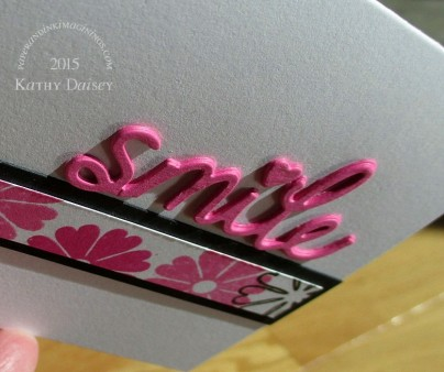 pink floral scraps smile close up