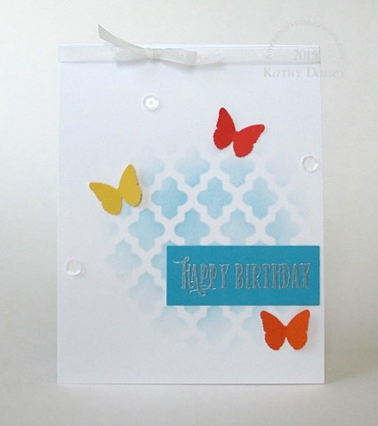 butterfly and sequin birthday