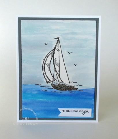 watercolor sailing