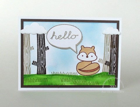 chipmunk hello note