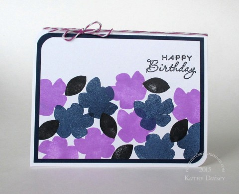 orchid navy black birthday floral