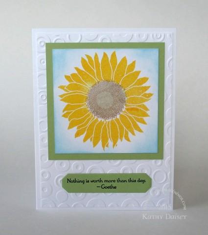 sunflower goethe quote