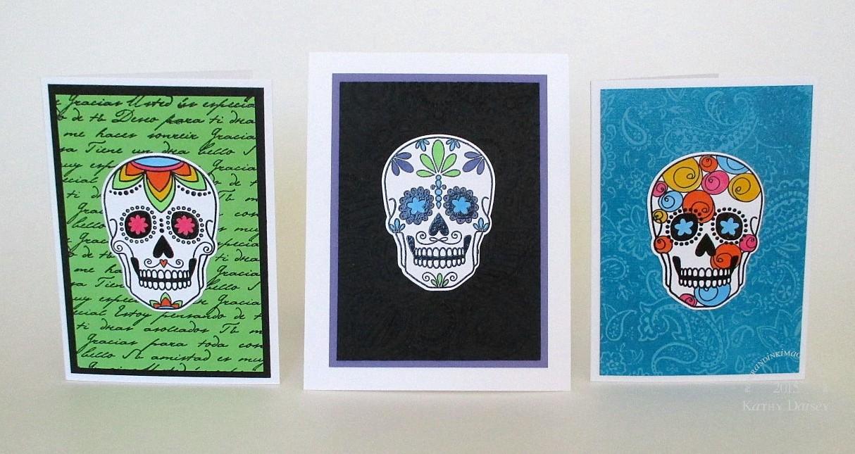 Dia de los Muertos Paper Mache Skull OOAK