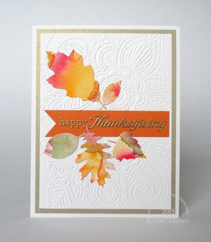 watercolored thanksgiving leaves