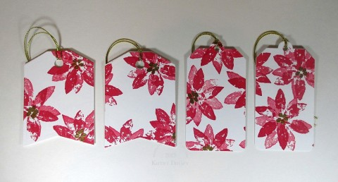 stamped poinsettia tags front