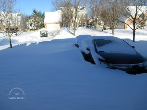 driveway full of snow 01 24 2016