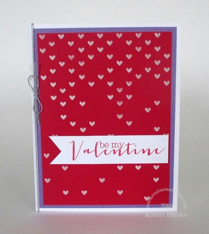 falling hearts embossing paste valentine
