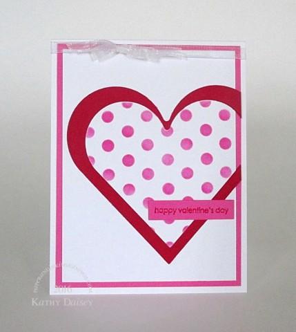 framed dots valentine