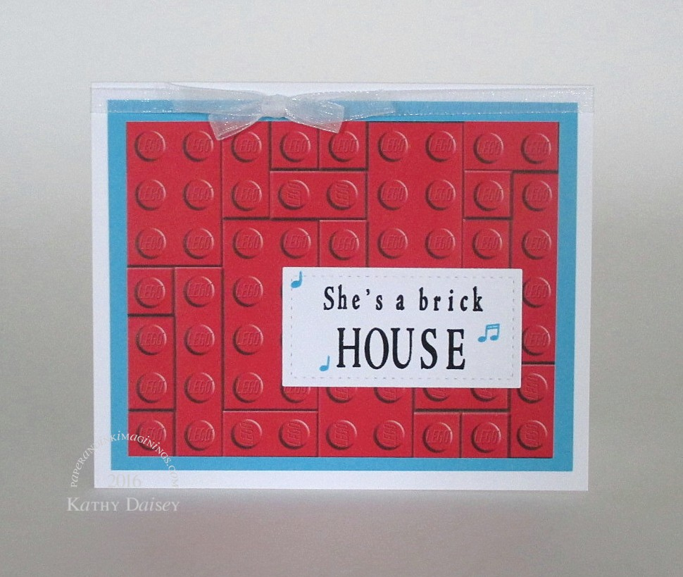 She's a Brick… House Valentine's Day Card | Paper and Ink Imaginings